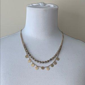 Gold Tone Genuine Jasper Layered Necklace